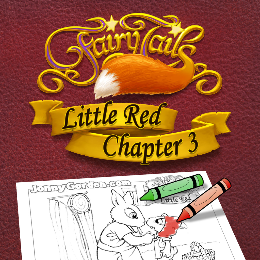 Coloring pages from Fairy Tails: Little Red Chapter 3